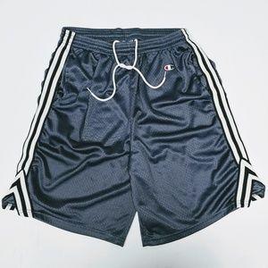 Vintage Champion Mens Gray Basketball Shorts